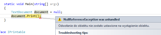NullReferenceException