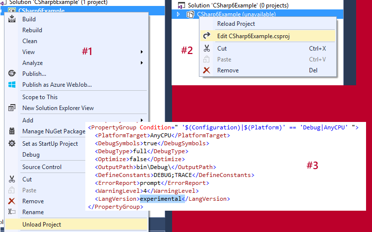No CSharp six in Visual Studio CTP 14