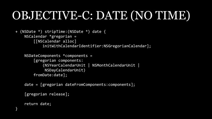 Objective-C Date