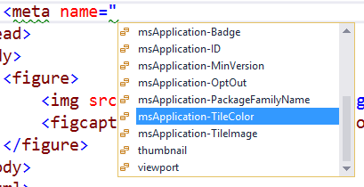 Intellisense HTML