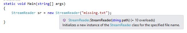 Visual Studio nie ma wyjątków
