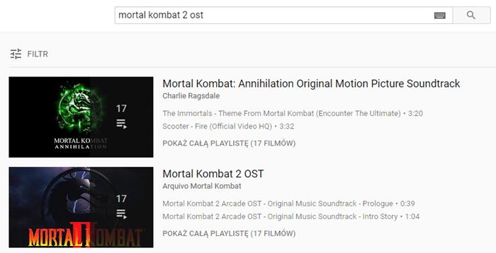 Mortal Kombat 2 OST