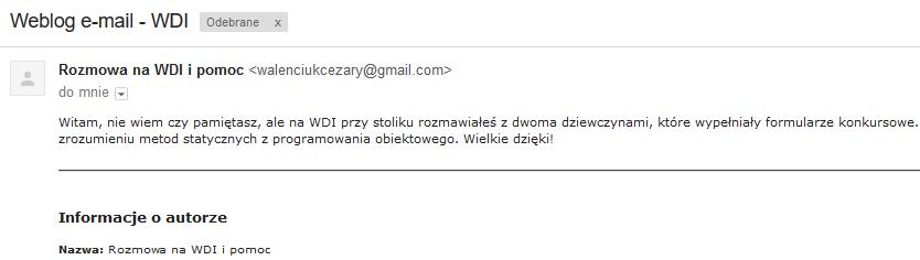 Warszawskie dni informatyki email