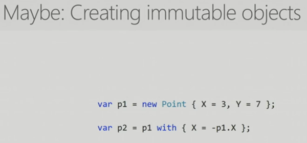 Create immutable objects