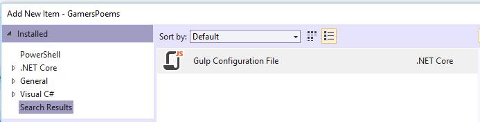 Gulp config