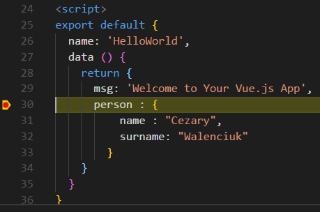 Visual Studio Code breakpoint