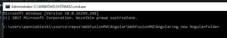 ng new AngularFolder