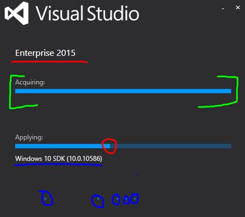 Kolorowanie instalacji Update 1 Visual Studio