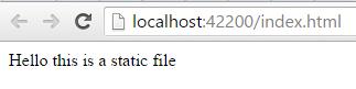 Static file
