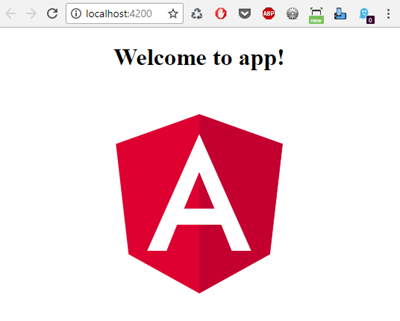 Angular 5 Welcome app