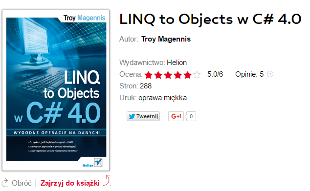 LINQ TO OBJECT W C# 4.0