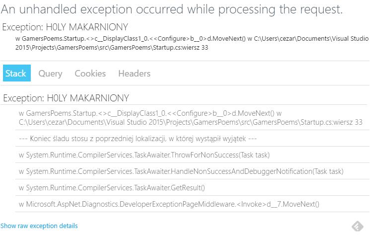 New ASP.NET error page