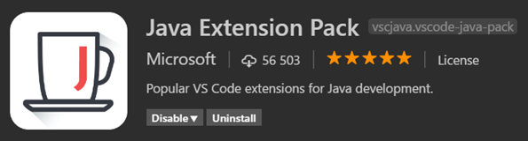 Java Extension Pack