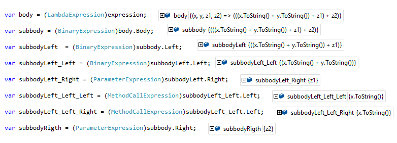 Expression Tree Visual Studio