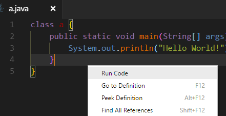 Run Code Visual Studio Code