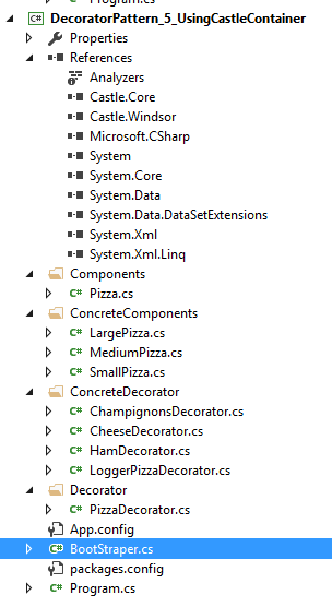 Decorator Pattern Visual Studio 5
