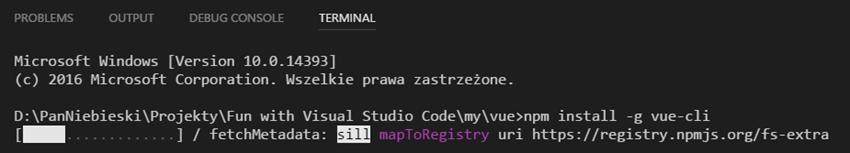 npm install -g vue-cli