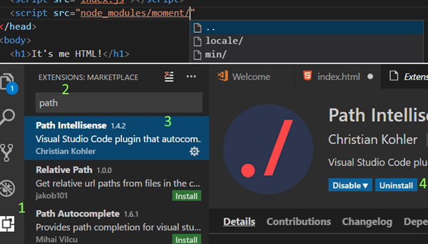 Dodatki do Visual Studio Code
