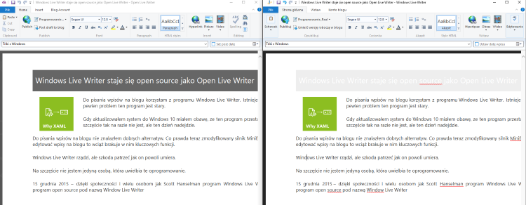 Windows Live Writer i Open Live Writer