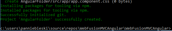 via npm completed