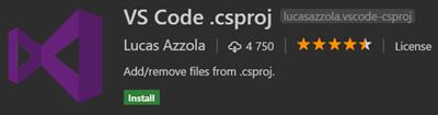 VS Code .csproj