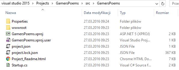 Folder ASP.NET Core