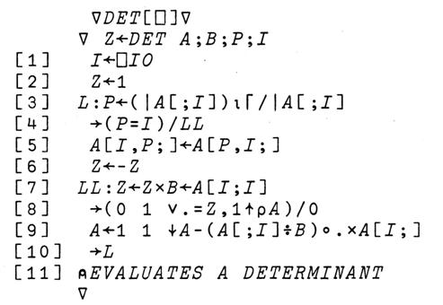 APL kod