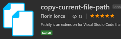 Copy Current file path